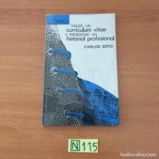 Libros de segunda mano: COMO HACER UN CURRÍCULUM VITAE. Lote 210802581