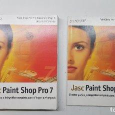 Libros de segunda mano: JASC PAINT SHOP PRO 7 - GUÍA DE REFERENCIA Y GUÍA RÁPIDA. Lote 211432780
