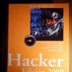 Libros de segunda mano: LA BIBLIA HACKER EDICIÓN 2009 - ANAYA - 1181 PÁGINAS - INCLUYE CD-ROM CON VIRUS, TROYANOS Y EXPLOITS. Lote 211510502
