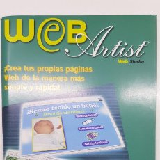 Libros de segunda mano: LIBRETO WEB ARTIST (WEB STUDIO) - CREA TUS PROPIAS PÁGINAS WEBS - SIERRA HOME. Lote 211750613