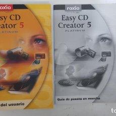Libros de segunda mano: ROXIO EASY CD CREATOR 5 PLATINUM GUÍA DEL USUARIO Y GUÍA DE PUESTA EN MARCHA. Lote 211763120