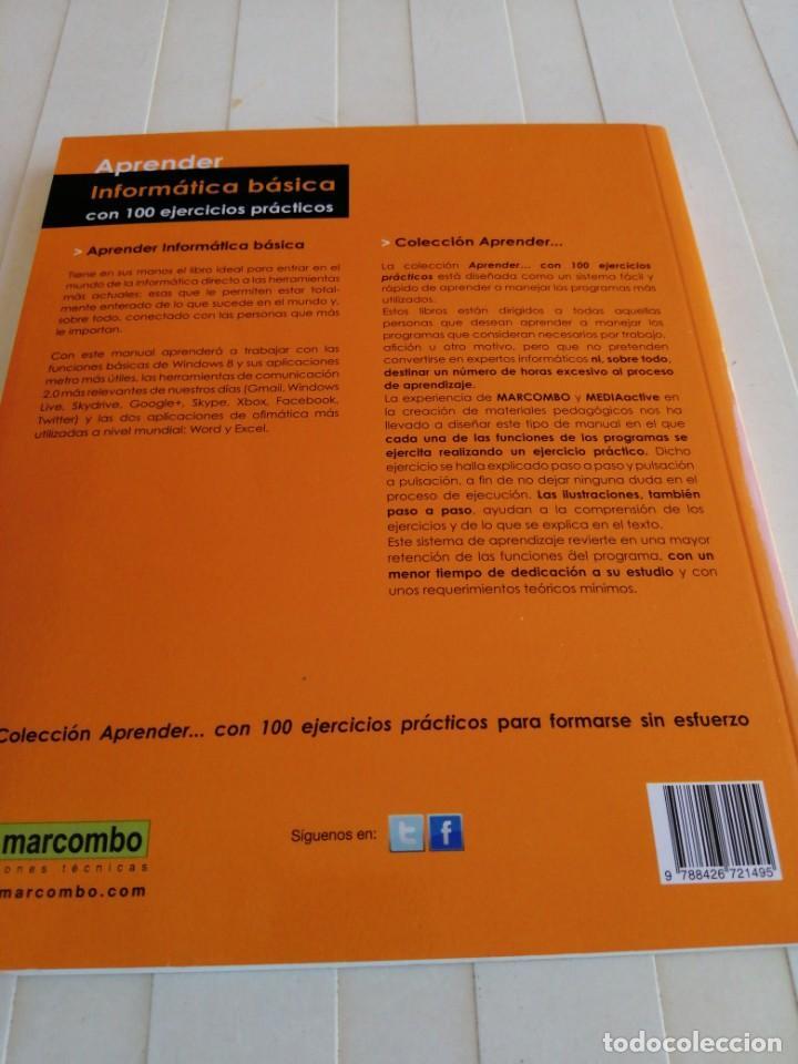 Libros de segunda mano: Aprender Informática Básica /Editorial Marcombo año2014 - Foto 2 - 213542672