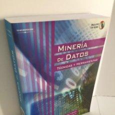 Libros de segunda mano: MINERÍA DE DATOS. TÉCNICAS Y HERRAMIENTAS. CÉSAR PÉREZ LÓPEZ. DANIEL SANTÍN GONZÁLEZ. INCLUYE CD-ROM. Lote 214078980