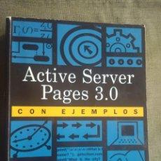 Libros de segunda mano: ASP ACTIVE SERVER PAGES 3.0 CON EJEMPLOS. BOB RESELMAN, PRENTICE HALL 2000. Lote 214597508