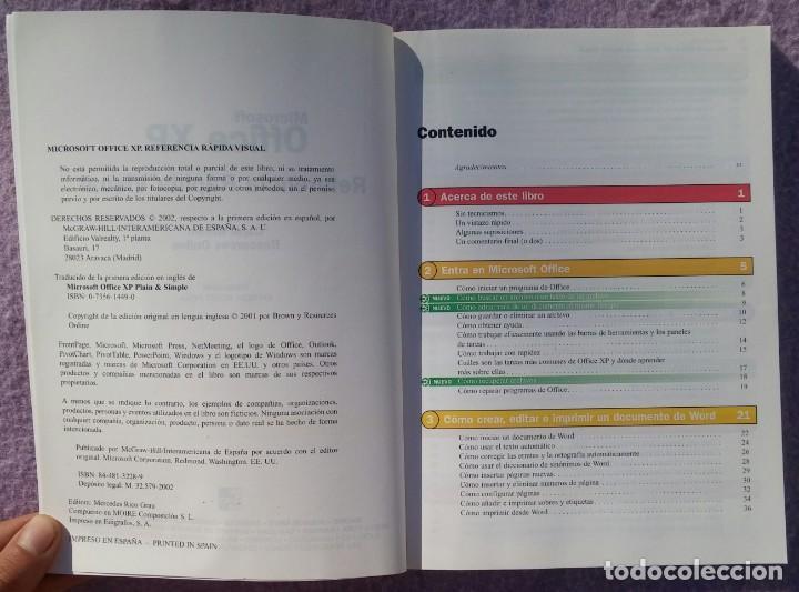 Libros de segunda mano: Microsoft Office XP Referencia Rápida Visual – Carol Brown (Mc Graw Hill, 2002) /// OFIMÁTICA WORD - Foto 3 - 218120063