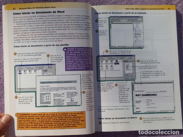 Libros de segunda mano: Microsoft Office XP Referencia Rápida Visual – Carol Brown (Mc Graw Hill, 2002) /// OFIMÁTICA WORD - Foto 6 - 218120063