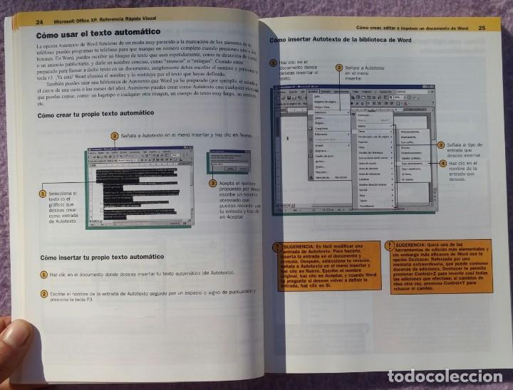 Libros de segunda mano: Microsoft Office XP Referencia Rápida Visual – Carol Brown (Mc Graw Hill, 2002) /// OFIMÁTICA WORD - Foto 7 - 218120063