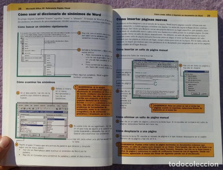 Libros de segunda mano: Microsoft Office XP Referencia Rápida Visual – Carol Brown (Mc Graw Hill, 2002) /// OFIMÁTICA WORD - Foto 9 - 218120063