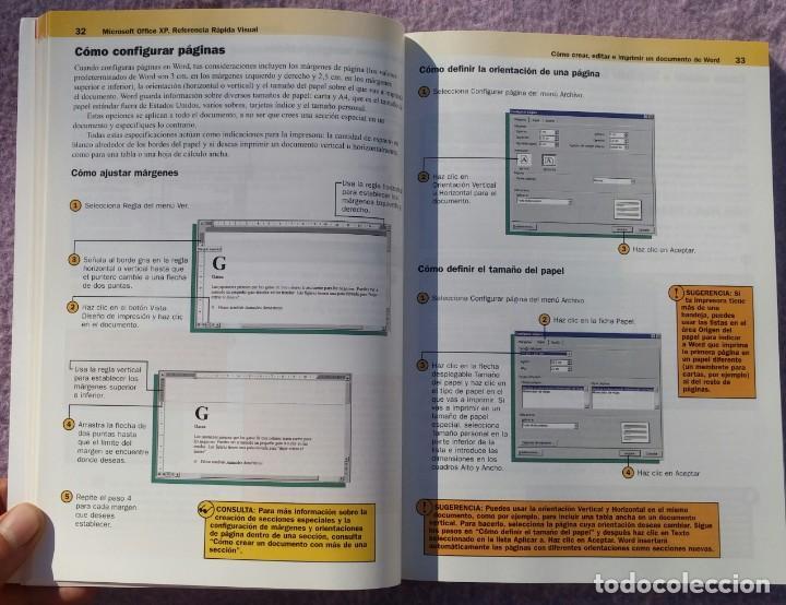 Libros de segunda mano: Microsoft Office XP Referencia Rápida Visual – Carol Brown (Mc Graw Hill, 2002) /// OFIMÁTICA WORD - Foto 11 - 218120063