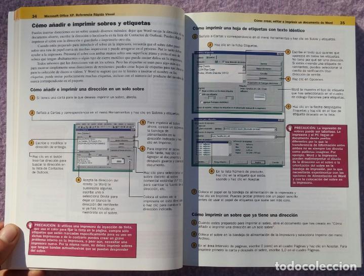Libros de segunda mano: Microsoft Office XP Referencia Rápida Visual – Carol Brown (Mc Graw Hill, 2002) /// OFIMÁTICA WORD - Foto 12 - 218120063