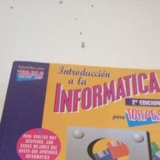 Libros de segunda mano: C-5 LIBRO INTRODUCCION A LA INFORMATICA PARA TORPES. Lote 218741232