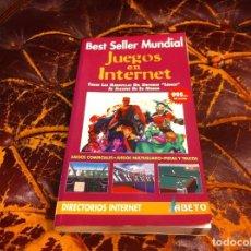 Libros de segunda mano: JUEGOS EN INTERNET. TODAS LAS M,ARAVILLAS DEL UNIVERSO LÚDICO AL ALCANCE DE SU MÓDEM. 1997, ABETO. Lote 218924795