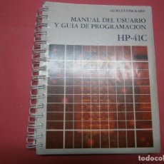 Livres d'occasion: MANUAL HP-41C +2+2 PLANTILLAS. Lote 219029531