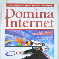 Libros de segunda mano: LIBRO DOMINA INTERNET, GUIA ESENCIAL PARA NAVEGAR POR LA RED SIN NAUFRAGAR, GRUPO ZETA. Lote 219523275