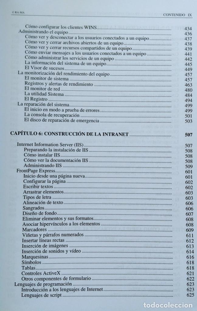 Libros de segunda mano: CÓMO CONSTRUIR UNA INTRANET CON WINDOWS SERVER 2000. José Luís RAYA, LAURA RAYA. RA-MA. - Foto 7 - 219609555