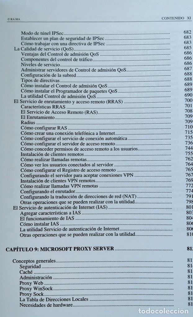 Libros de segunda mano: CÓMO CONSTRUIR UNA INTRANET CON WINDOWS SERVER 2000. José Luís RAYA, LAURA RAYA. RA-MA. - Foto 10 - 219609555