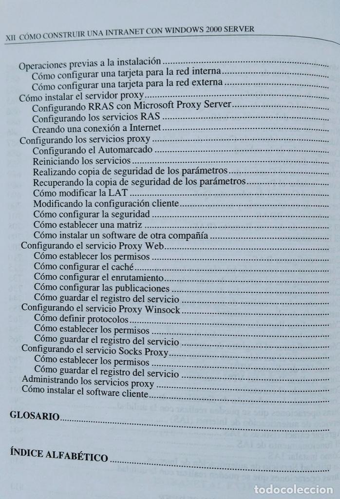 Libros de segunda mano: CÓMO CONSTRUIR UNA INTRANET CON WINDOWS SERVER 2000. José Luís RAYA, LAURA RAYA. RA-MA. - Foto 11 - 219609555