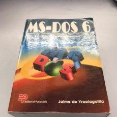 Libros de segunda mano: MS - DOS 6 - MANUAL DEL USUARIO. Lote 219879010