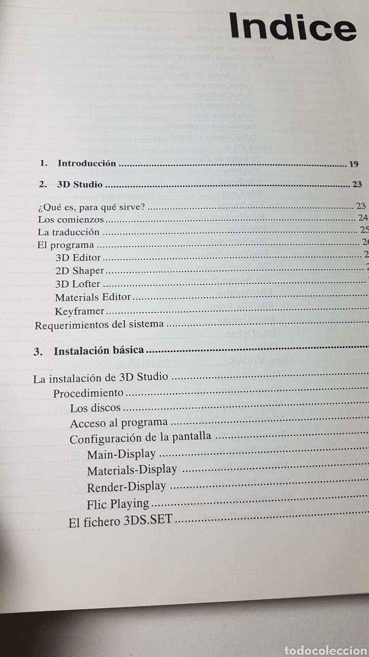 Libros de segunda mano: 3D Studio 3 - Anaya multimedia - Roberto Potenciano - Comandos Escenas infográficas en pc - Foto 3 - 220189702