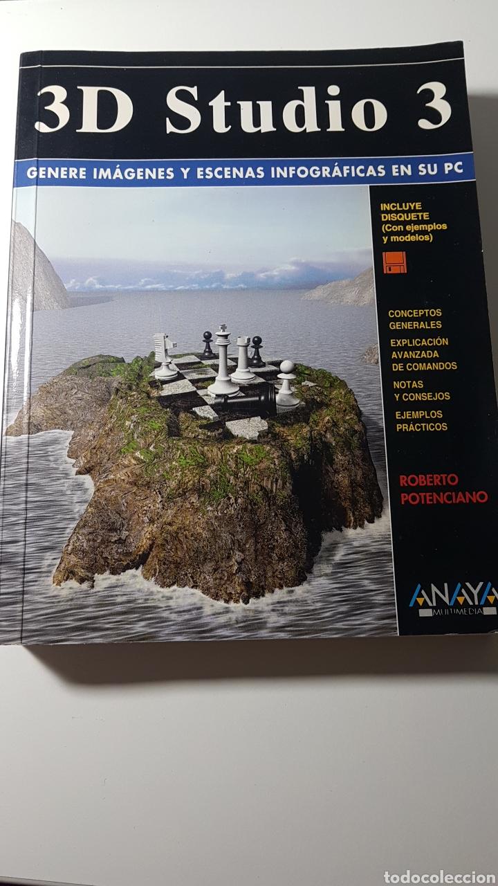 3D STUDIO 3 - ANAYA MULTIMEDIA - ROBERTO POTENCIANO - COMANDOS ESCENAS INFOGRÁFICAS EN PC (Libros de Segunda Mano - Informática)