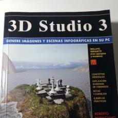 Libros de segunda mano: 3D STUDIO 3 - ANAYA MULTIMEDIA - ROBERTO POTENCIANO - COMANDOS ESCENAS INFOGRÁFICAS EN PC. Lote 220189702