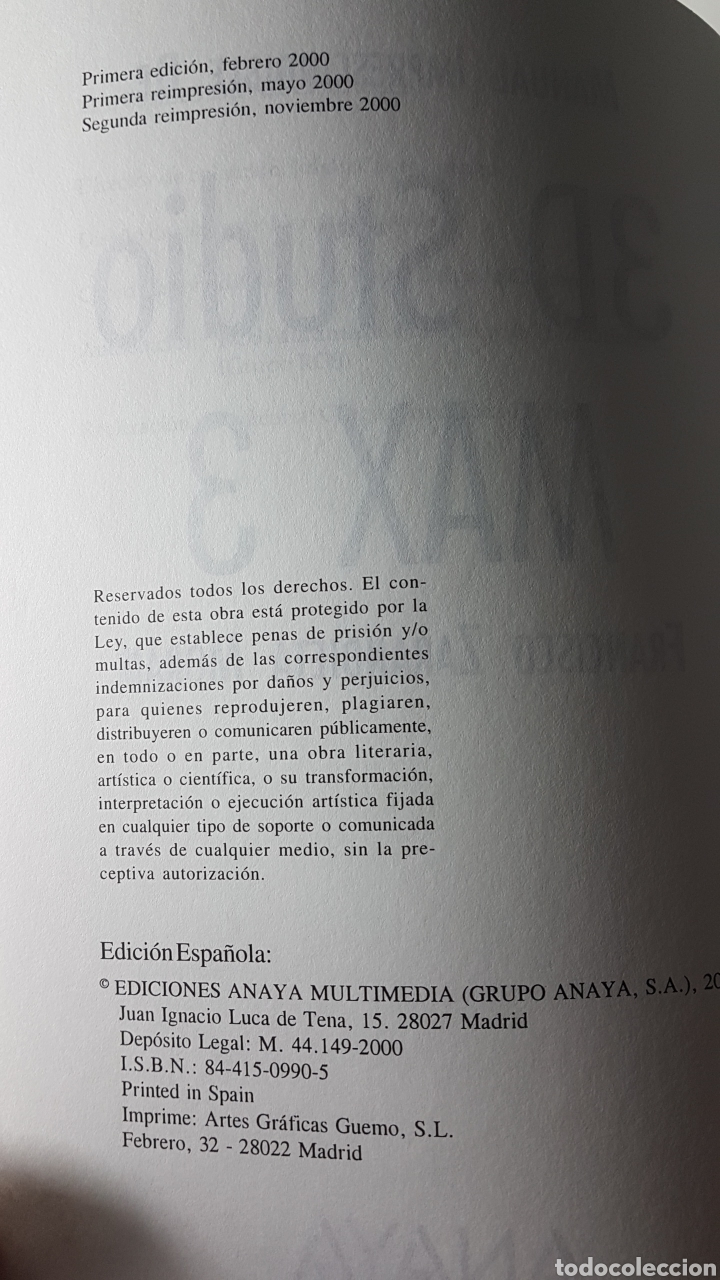 Libros de segunda mano: 3D Studio Max 3 - Anaya multimedia - Francisco Zarandieta Morán - Manual imprescindible - Foto 2 - 220190051