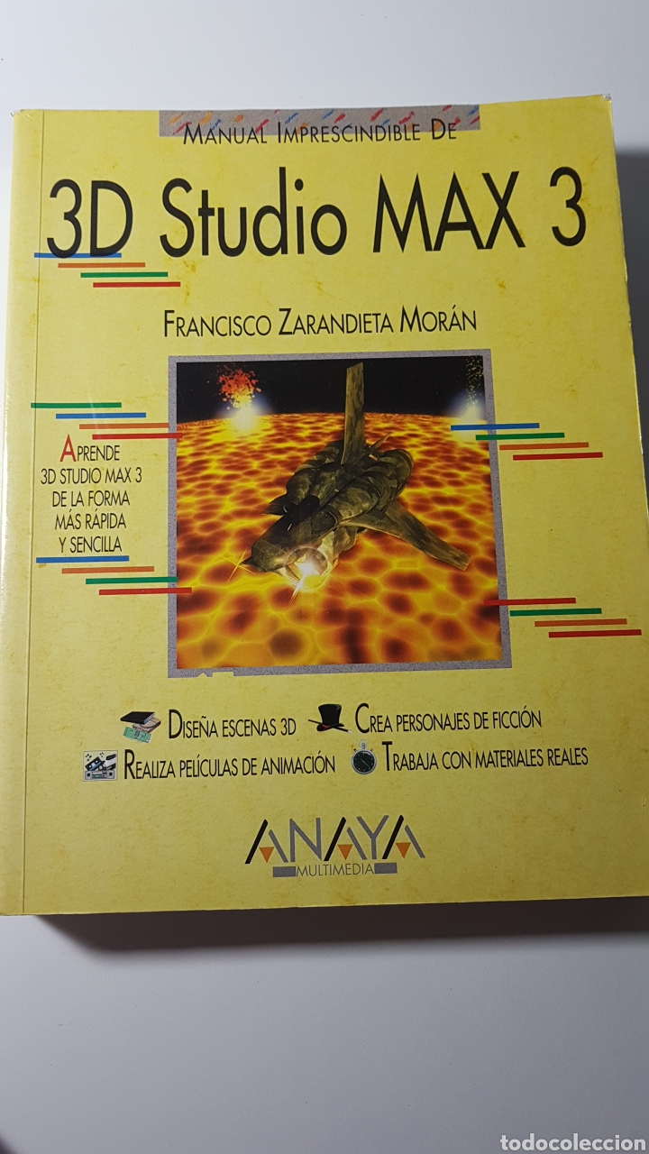 Libros de segunda mano: 3D Studio Max 3 - Anaya multimedia - Francisco Zarandieta Morán - Manual imprescindible - Foto 1 - 220190051