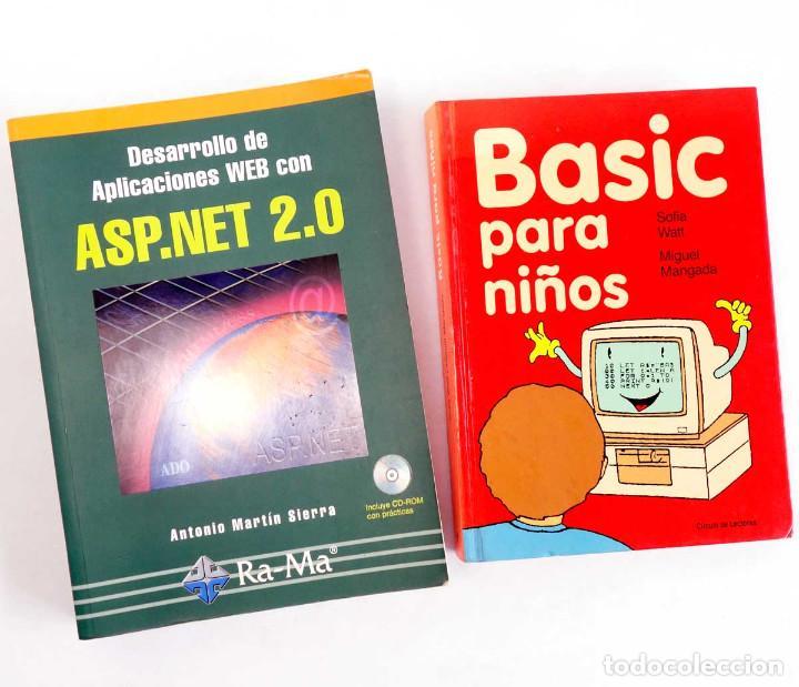 LOTE 2 LIBROS DE INFORMÁTICA. ASP.NET 2.0 Y BASIC PARA NIÑOS (Libros de Segunda Mano - Informática)