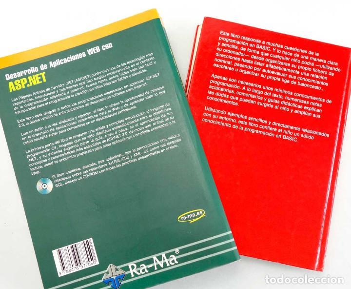 Libros de segunda mano: LOTE 2 LIBROS DE INFORMÁTICA. ASP.NET 2.0 Y BASIC PARA NIÑOS - Foto 5 - 221157545