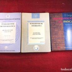 Libros de segunda mano: FUNDAMENTOS DE INFORMÁTICA Y PROGRAMACIÓN EN PASCAL. Lote 221754812