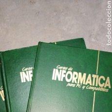 Libros de segunda mano: CURSO DE INFORMÁTICA PARA PC Y COMPATIBLES, 3 TOMOS, F&G EDITORES. Lote 223868402