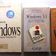 Libros de segunda mano: 3 LIBROS SOBRE WINDOWS 3.1. Lote 224589526