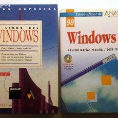Libros de segunda mano: EL LIBRO DEL WINDOWS 3 + WINDOWS 98. Lote 224594703
