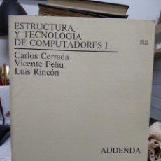 Livros em segunda mão: ESTRUCTURA Y TECNOLOGÍA DE COMPUTADORES I, VARIOS AUTORES. L.22633. Lote 227221125