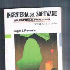 Libros de segunda mano: INGENIERIA DEL SOFTWARE UN ENFOQUE PRACTICO REOGER S PRESSMAN MC GRAW HILL 1993. Lote 227605721