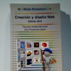 Libros de segunda mano: CREACIÓN Y DISEÑO WEB. Lote 229106580
