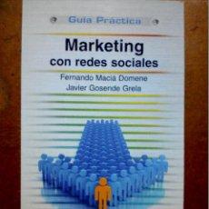 Libros de segunda mano: MARKETING CON REDES SOCIALES. Lote 229224885