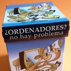 Libros de segunda mano: ORDENADORES NO HAY PROBLEMA: ARCHIVADOR DE FICHAS COMPLETO - EL MUNDO - 1997 - NUEVO. Lote 232278240