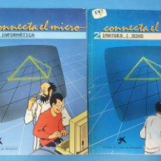 Libros de segunda mano: CONNECTA EL MICRO 1 Y 2 (FEM INFORMÁTICA / IMATGES I SONS) - FUNDACIÓ CAIXA DE PENSIONS. Lote 233215230
