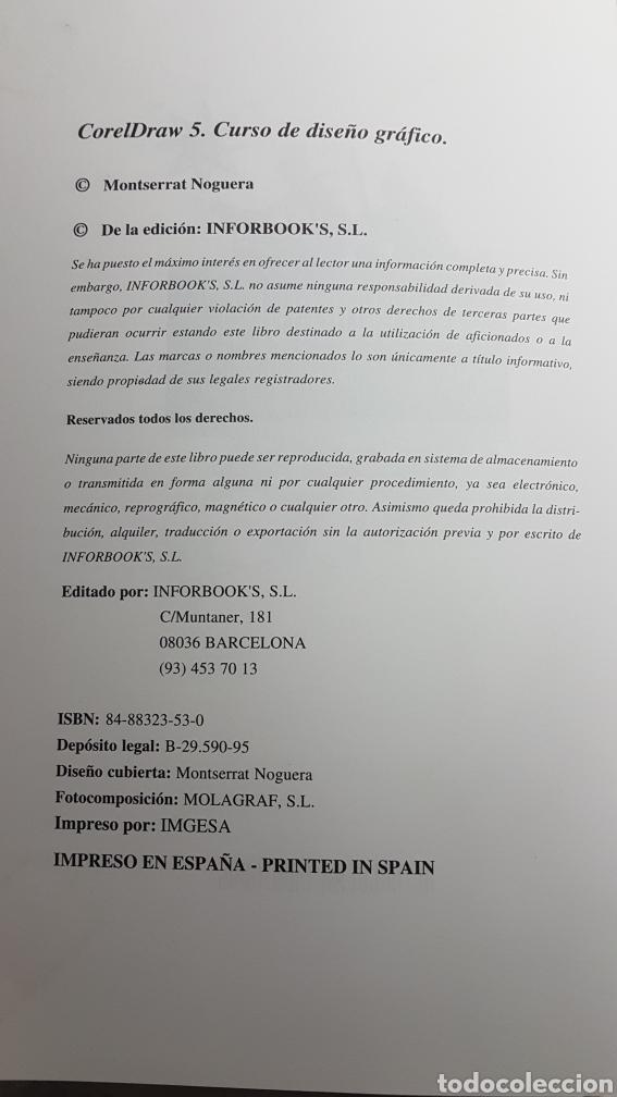 Libros de segunda mano: Coreldraw 5 curso de diseño gráfico - Corel Draw - M. Noguera Muntadas - Informática Inforbooks - Foto 4 - 233243020