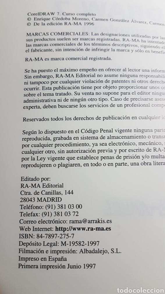 Libros de segunda mano: CorelDraw 7 curso completo - Corel Draw - Ra Ma - E Córdoba C González C Córdoba - Foto 3 - 233269535