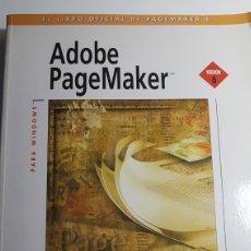 Libros de segunda mano: ADOBE PAGEMAKER VERSIÓN 6 PARA WINDOWS - ANAYA MULTIMEDIA - INCLUYE CD ROM. Lote 233270090