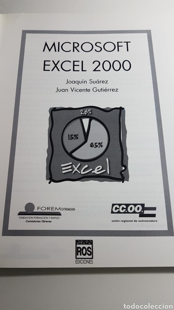 Libros de segunda mano: Microsoft Excel 2000 - Forem Extremadura Comisiones Obreras CC.OO. - Foto 2 - 233270485