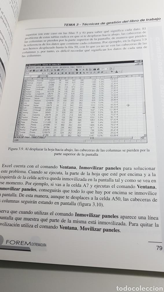 Libros de segunda mano: Microsoft Excel 2000 - Forem Extremadura Comisiones Obreras CC.OO. - Foto 4 - 233270485
