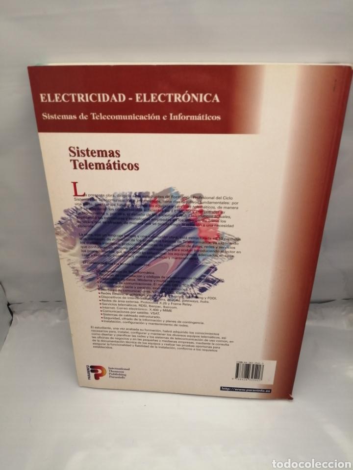 Libros de segunda mano: SISTEMAS TELEMÁTICOS. Sistemas de Telecomunicación e Informáticos - Foto 2 - 235938545