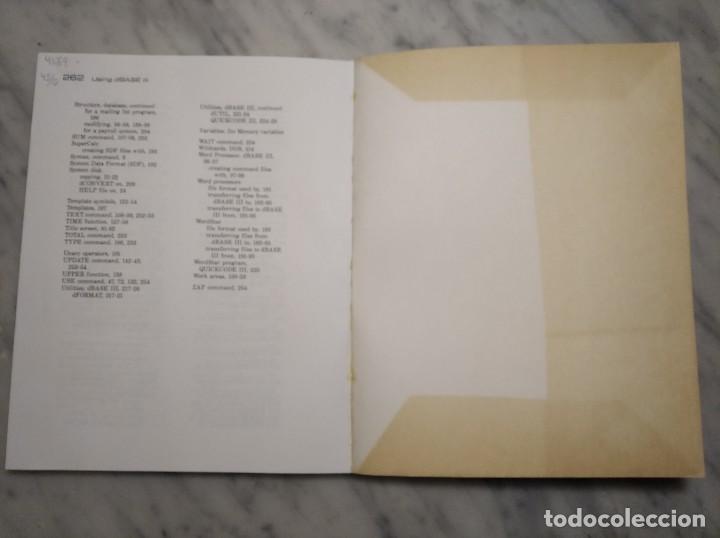 Libros de segunda mano: LIBRO USING DBASE III - EDWARD JONES - AÑO 1985 - EN INGLÉS - Foto 7 - 236436155