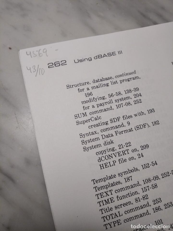 Libros de segunda mano: LIBRO USING DBASE III - EDWARD JONES - AÑO 1985 - EN INGLÉS - Foto 8 - 236436155