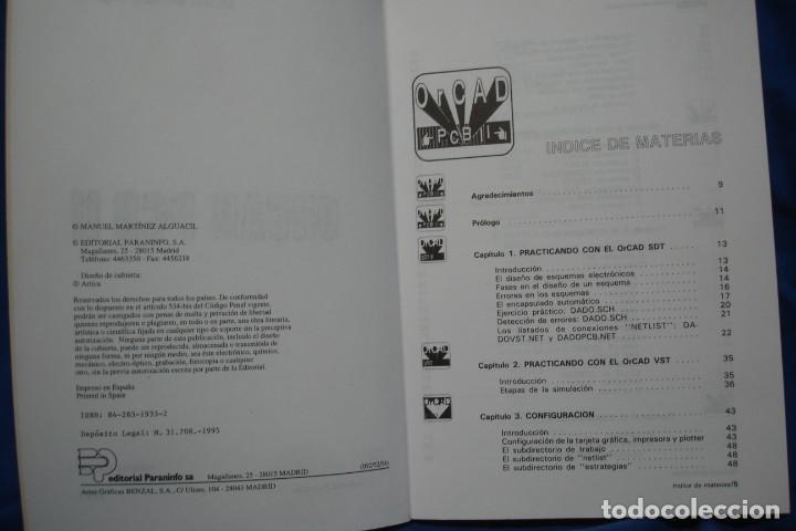 Libros de segunda mano: ORCAD PCB II - MANUEL MARTÍNEZ ALGUACIL - ED. PARANINFO 1995 - Foto 2 - 238041315