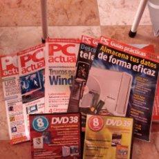 Libros de segunda mano: LOTE PC ACTUAL TRES REVISTAS DOS GUÍAS PRÁCTICAS 2 DVD INFORMATICA. Lote 241426125