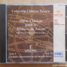 Libros de segunda mano: CD-ROM - CLASICOS TAVERA Nº 6 - SERIE X, VOL. 25 - HISTORIA DE TOLEDO. Lote 243779880